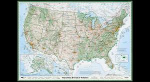 Embedded thumbnail for The Great Map of the US Designed by One Man